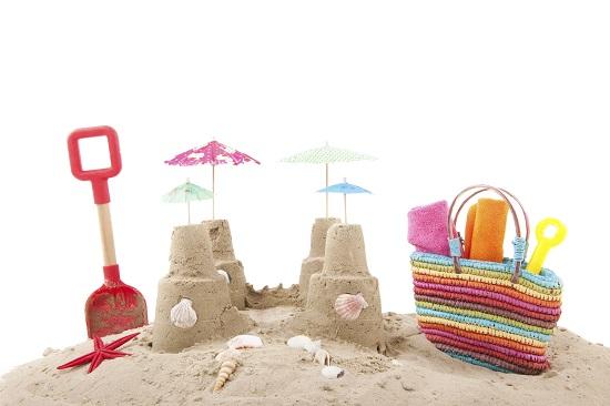 Mini-castele de nisip tropicale