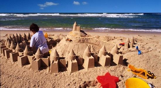 Ansamblu de castele de nisip