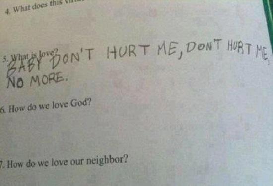 """Raspuns haios dat la intrebarea """"Ce este dragostea"""""""