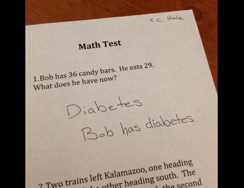 Raspuns haios de la o lucrare la matematica