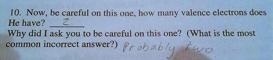 Raspuns haios de la o lucrare de control la chimie