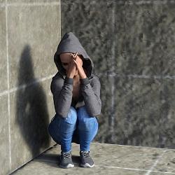 Femeie deprimata