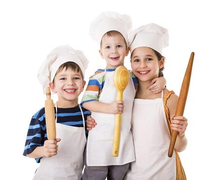 Copii la cursuri de gatit