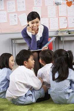 Copiii pronunta cuvinte cu grupuri de sunete
