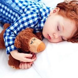 Baietel ce doarme cu o jucarie de plus