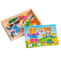 Puzzle lemn Familia de ursi