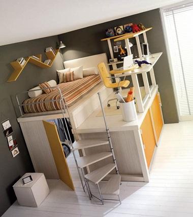 Idee de design pentru o camera de copil dintr-un apartament mic