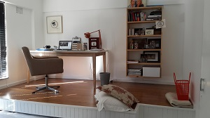 Dormitor dupa ce a fost transformat in camera de studiu si camera de oaspeti