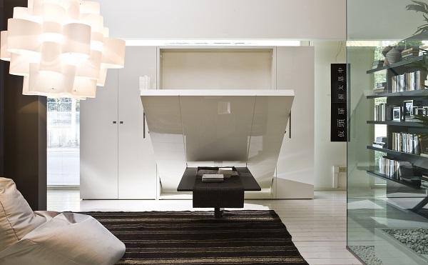 Idee de design pentru apartamentele mici-sifonier ce se transforma in pat