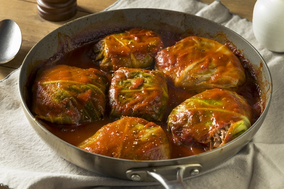Sarmale din varza dulce, cu carne de vita