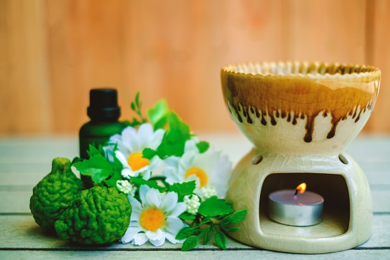 Fruct bergamota, ulei esential si difuzor de aromaterapie