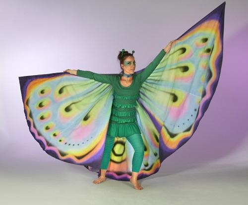 Fata in costum de fluture