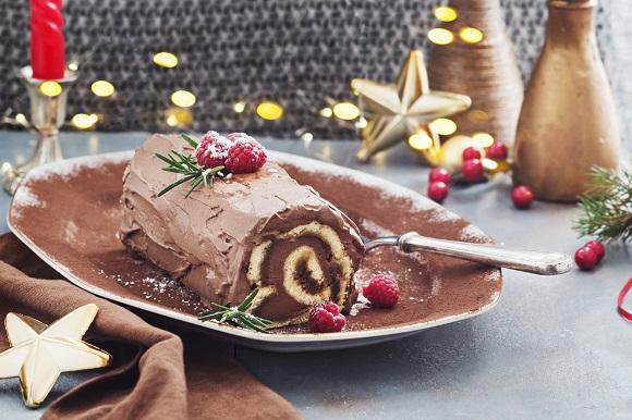 Rulada cu ciocolata si cu piure de castane