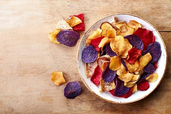 Chips-uri de legume