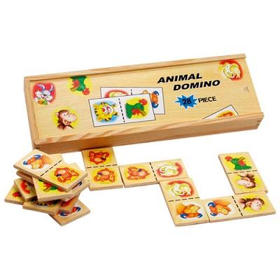 Domino cu piese din lemn pentru cei mici