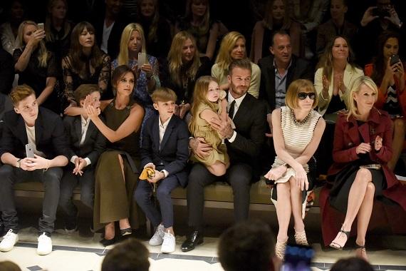 Victoria si David Beckham alaturi de copiii lor