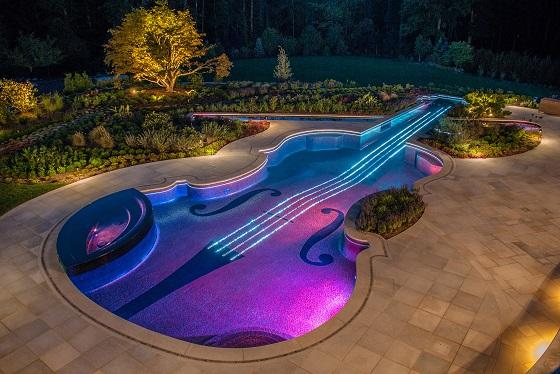 Piscina descoperita spectaculoasa: Piscina in forma de vioara, SUA