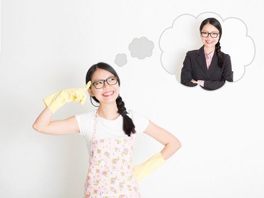 Femeie casnica ce viseaza la o cariera
