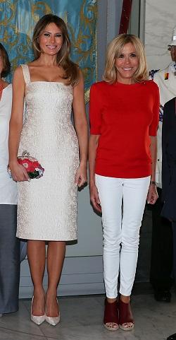 Brigitte Macron si Melanie Trump