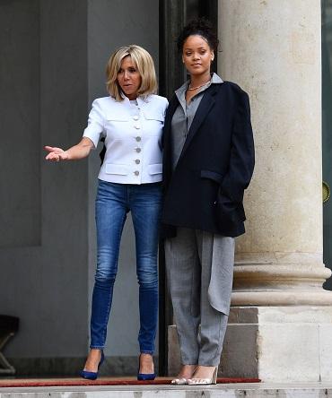 Brigitte Macron alaturi de Rihanna