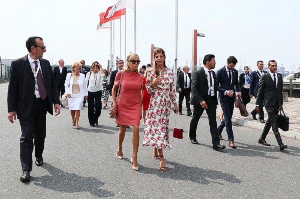 Brigitte Macron in timpul unei vizite in Orientul Mijlociu