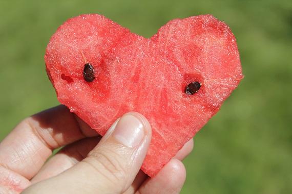 Inimioara din pepene rosu