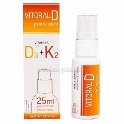 Supliment alimentar cu vitamina D -Vitoral D pentru adulti