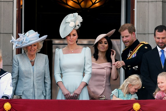 O parte din Familia Regala Britanica, participand la un eveniment