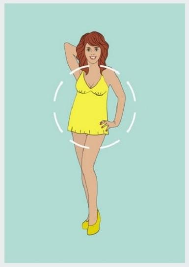 Costum de baie potrivit pentru o silueta tip cerc