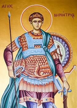 Pictura cu Sfantul Dimitrie