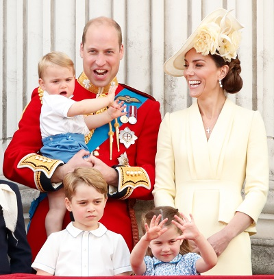 Printul William, Kate Middleton si cei trei copii ai lor