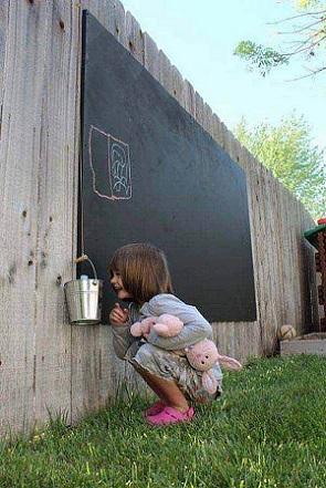 Gard de gradina cu tablita de scris