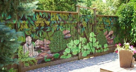 Decoratiune de gradina inspirata dintr-un centru SPA