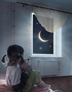 Fetita ce nu vrea sa se culce seara