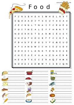 Food wordsearch maze