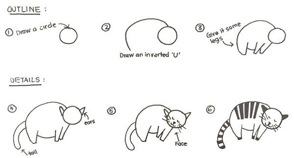 Cum sa desenezi o pisica