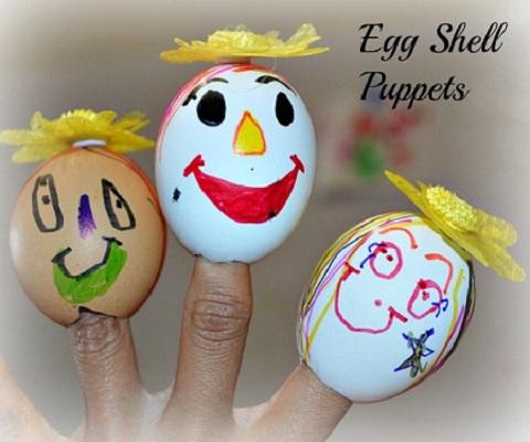 Marionete din coji de oua