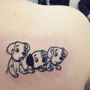 Tatuaj inspirat din 101 Dalmatieni