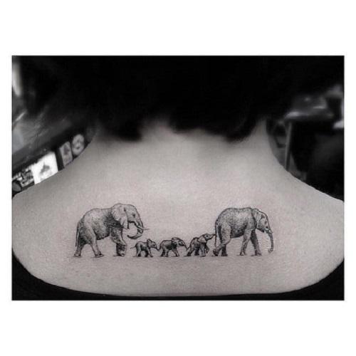 Tatuaj cu simbol-elafanti