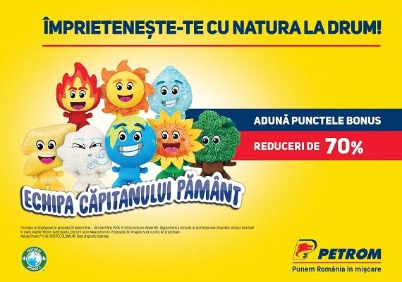 """Campania prin care pot fi achizitionate jucariile din campania Petrom """"Natural Powerz"""""""