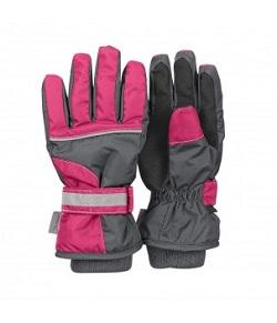 Manusi de iarna cu gri si cu roz
