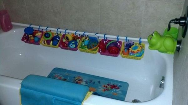 suport pentru depozitarea jucariilor din baie