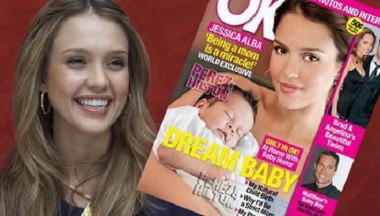 Jessica Alba si fiica sa in Ok Magazine
