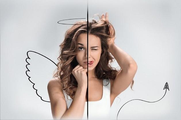 femeie cu emotii diferite