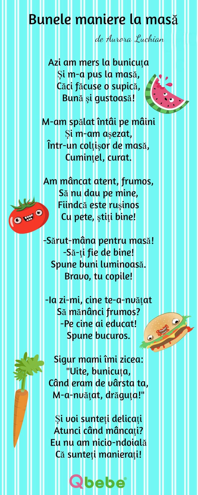 15 Poezii Pentru Copii Despre Bunele Baniere