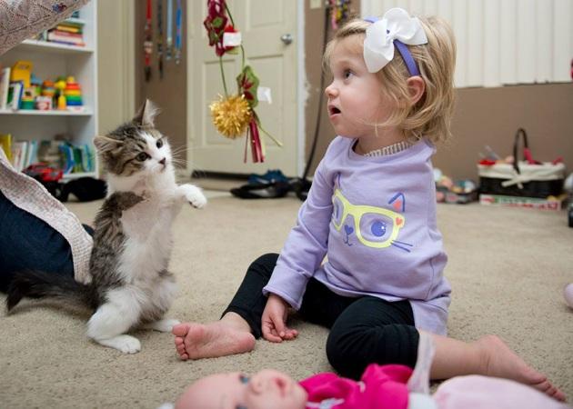 fetita si pisicuta 1