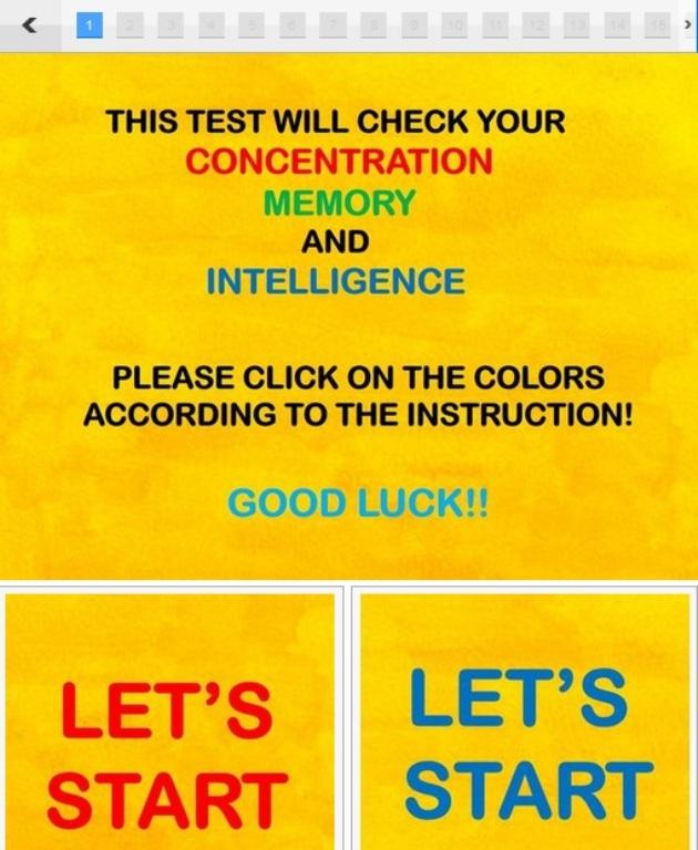 test de memorie
