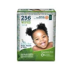 Servetele umede pentru bebelusi Seventh Generation Free&Clear - 256buc