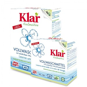 Detergent ecologic pudra pentru rufe albe si colorate, Klar