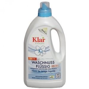Detergent ecologic lichid pentru rufe, 3 in 1, cu nuci de sapun, Klar,